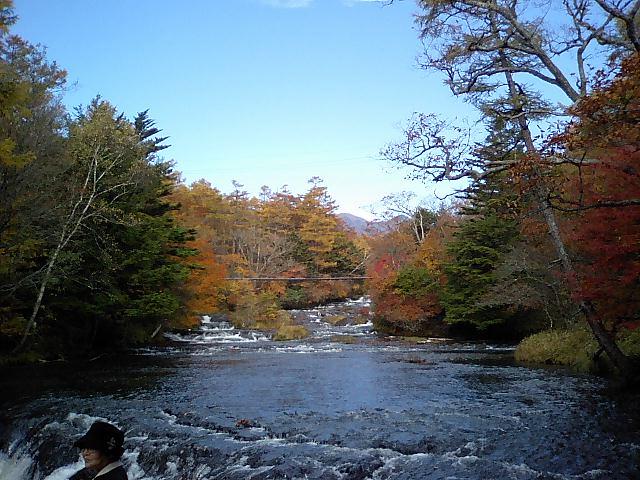 紅葉の奥日光湯川